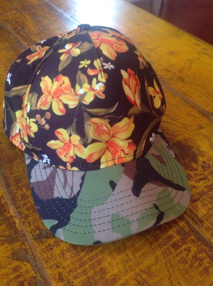 f347acaa Neff Camouflage Floral Bright Colors BLACK YELLOW Skate Hat Cap #fashion  #clothing #shoes #accessories #mensaccessories #hats (ebay link)
