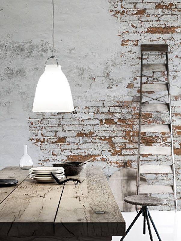 reka bentuk hiasan dalaman teres interior designing service providers Industrieel interieur kenmerken: bakstenen muur