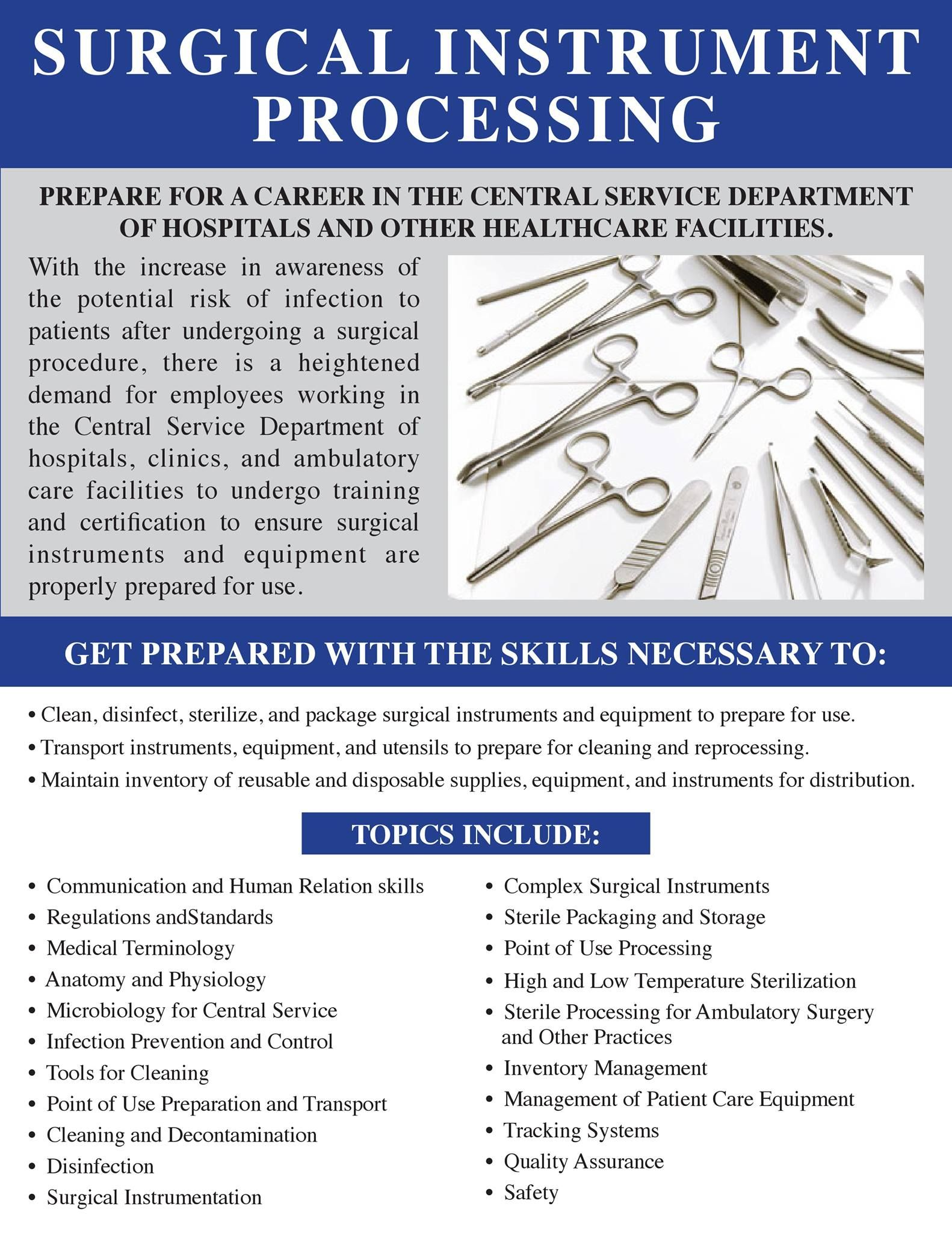 Surgical Instrument Processing Certificate Program Study Tricks