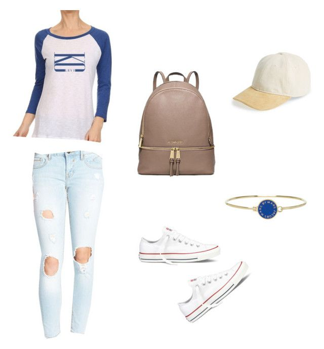 """""""KC LOVE BASEBALL TEE OUTFIT"""" by sequins-497 on Polyvore featuring Converse, rag & bone, Marc by Marc Jacobs and Vigoss"""