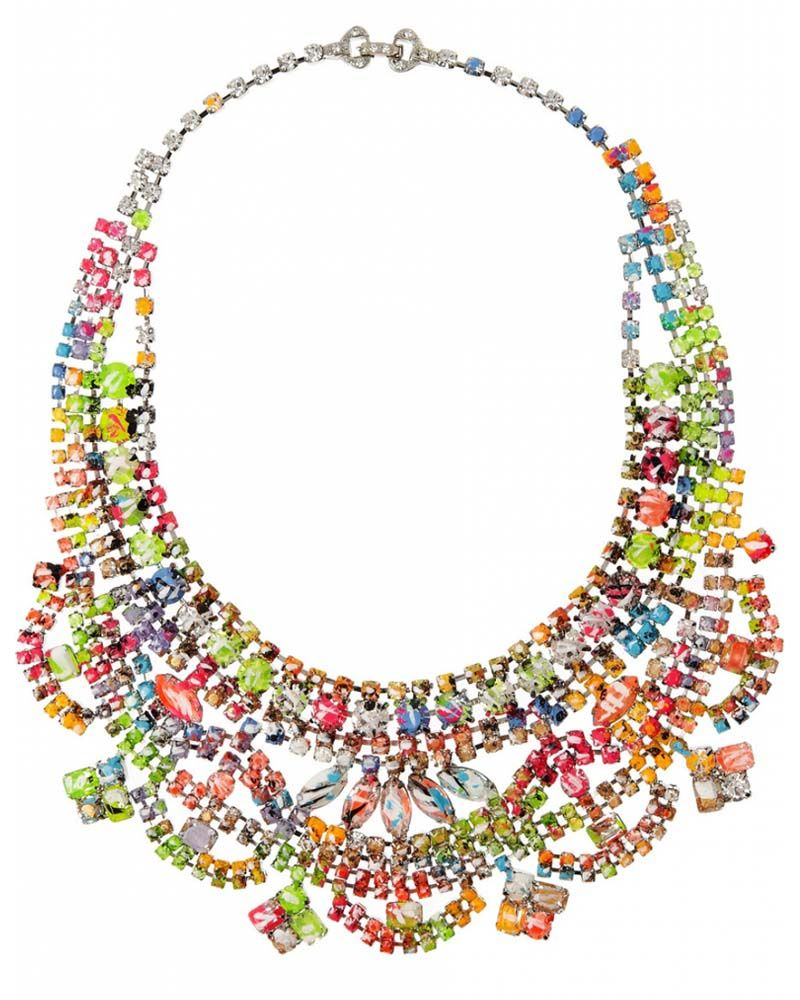 Tom Binns Designs - A Riot of Color Glow-in-the-Dark Swarovski Crystal Necklace - How pretty is this for summer?