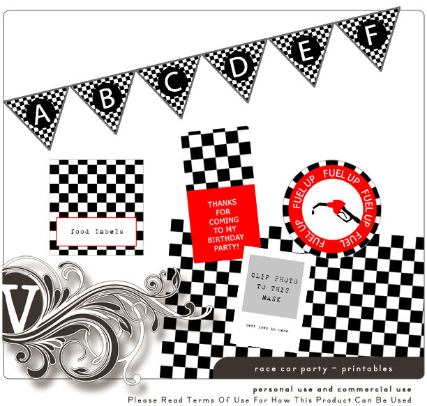 Noah's Race Car Party + Free Printables