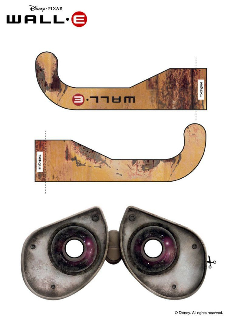 Uncategorized Wall-e Mask click on the image to download these cool wall e glasses wear it during