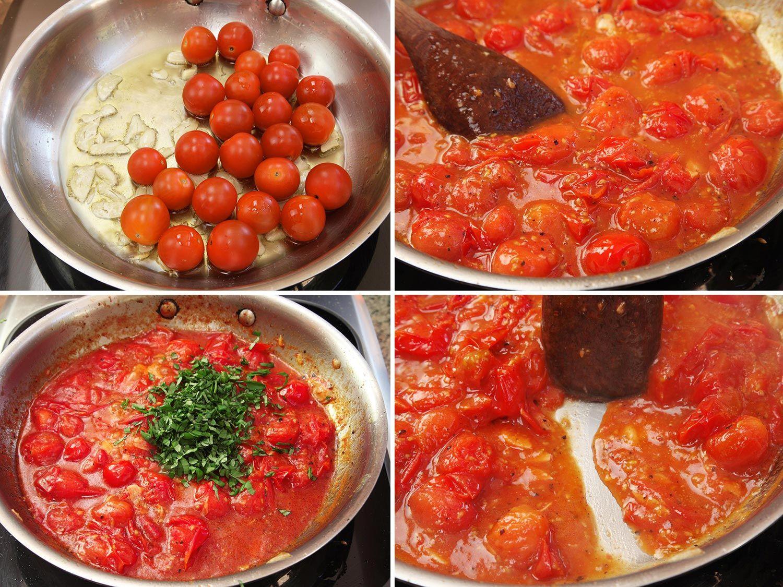 Blistered Cherry Tomato Sauce Recipe