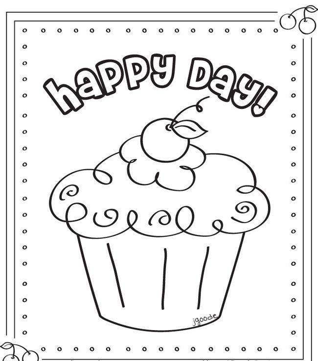 Resultado de imagem para risco cupcake chocolate | Pictures to color ...