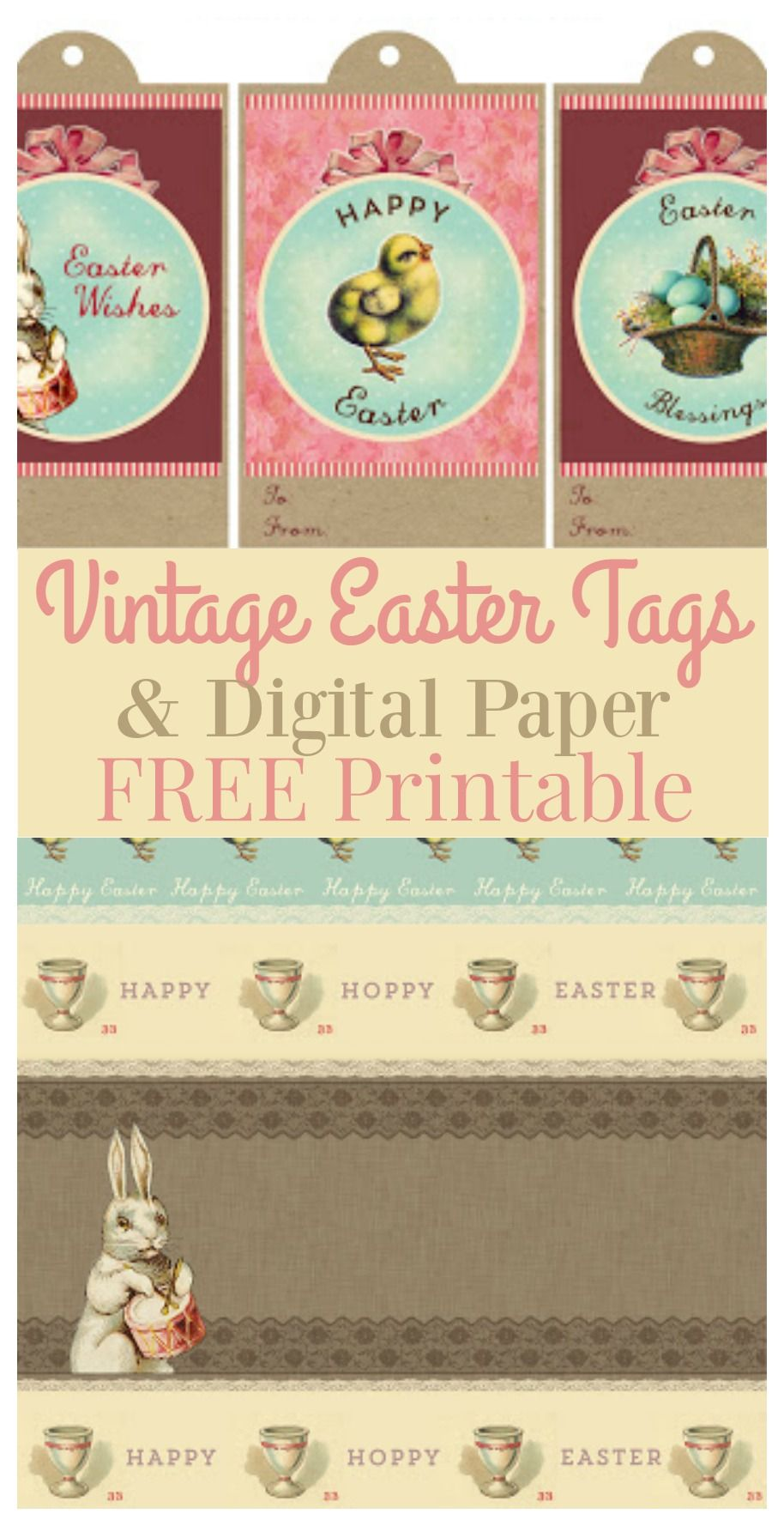 Printable vintage easter gift tags digital paper graphics fairy printable vintage easter gift tags digital paper the graphics fairy negle Choice Image