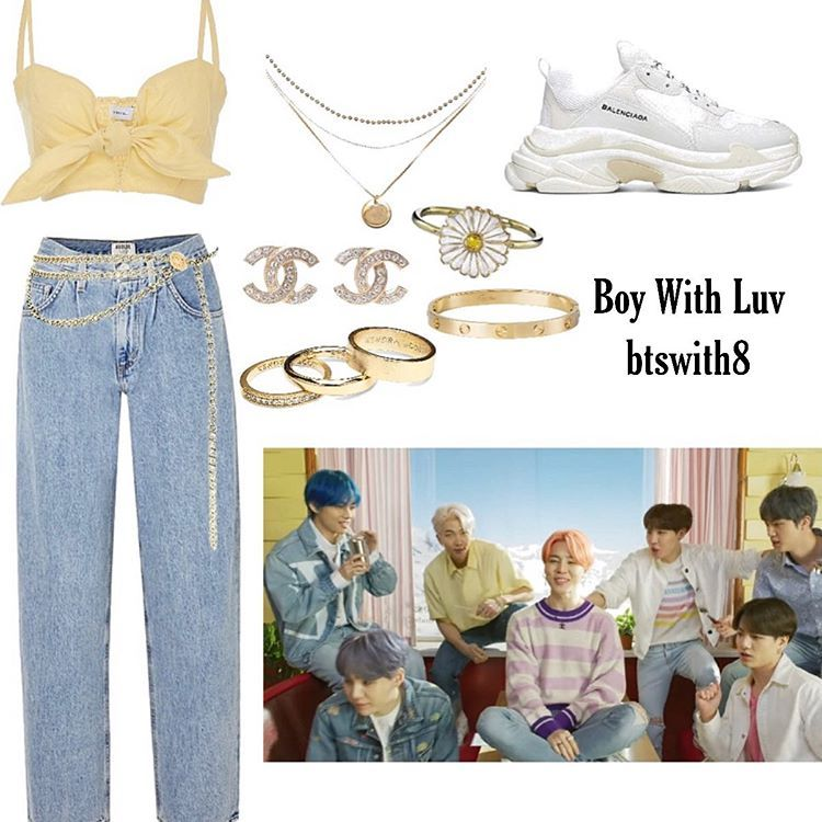"""inspired by bts on Instagram: """"boy with luv inspired outfit ゚゚ ゚゚ ゚゚ ゚゚ #bts #bts8thmember #btsinspired #kpop #kpopoutfit #fashion #blogger #btsoutfit #btsv #taehyung…"""""""