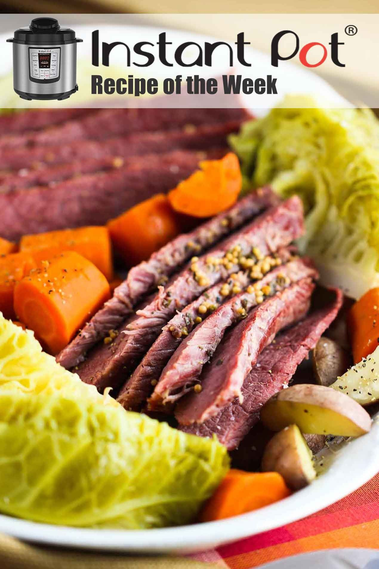 Instant Pot Corned Beef with Cabbage