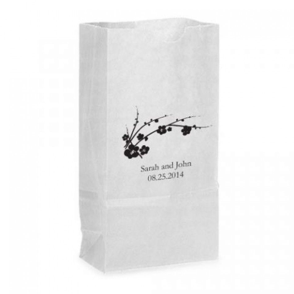 Favor Bags - Cherry Blossom Self-Standing Paper Goodie Bag with Side ...