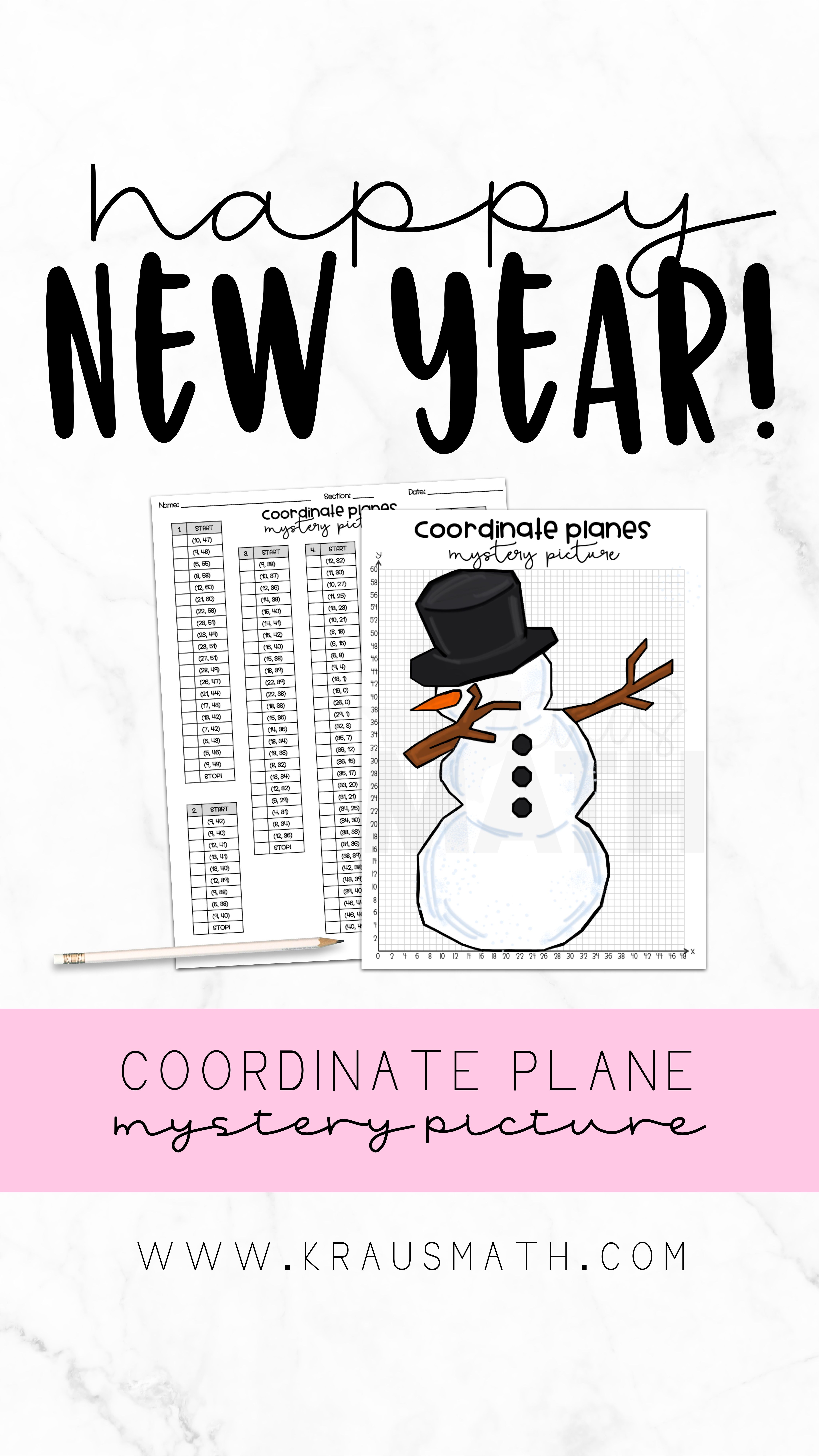 Snowman Dab Coordinate Plane Activity 1st Quadrant