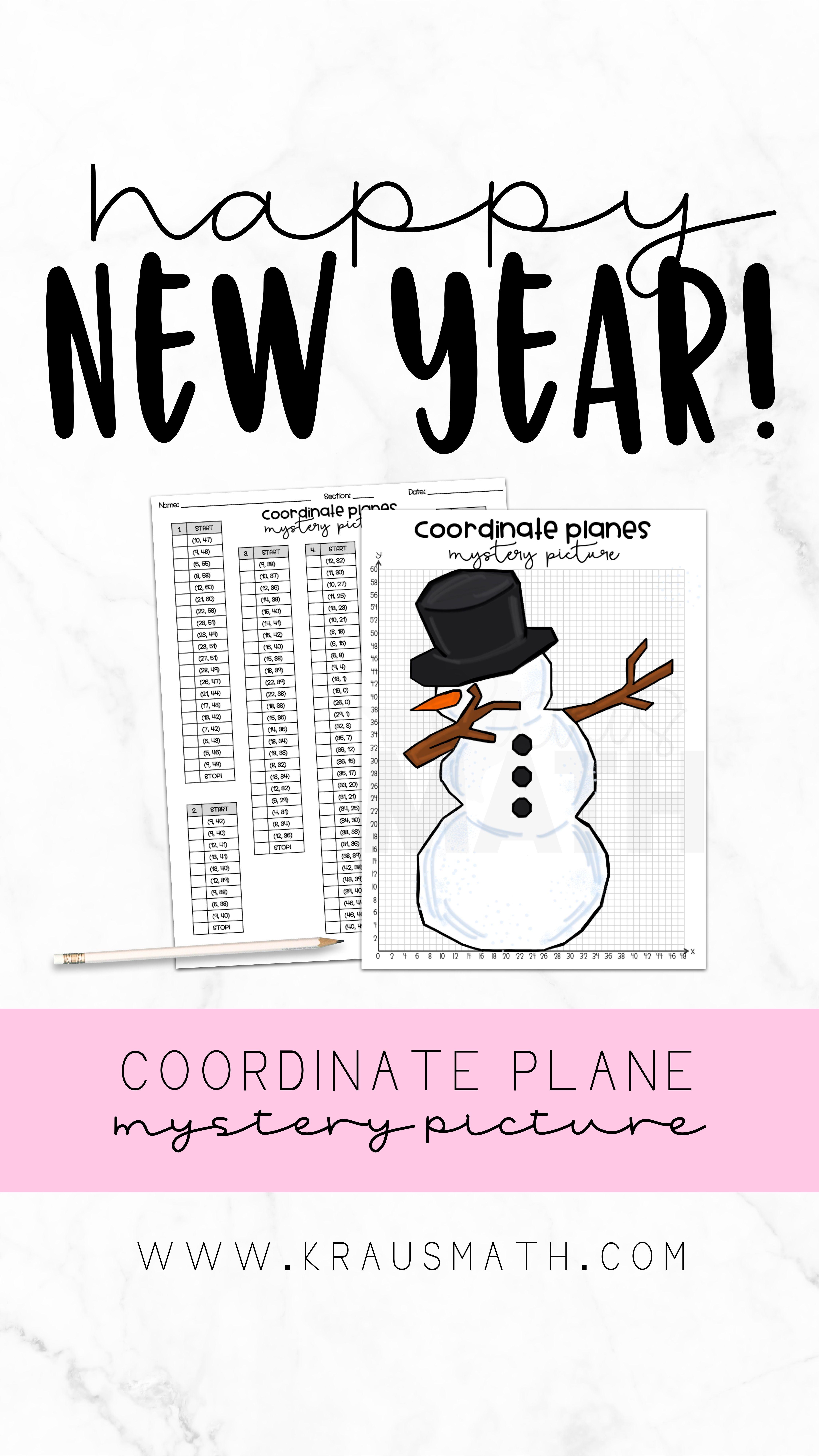 Snowman Dab Coordinate Plane Activity 1st Quadrant