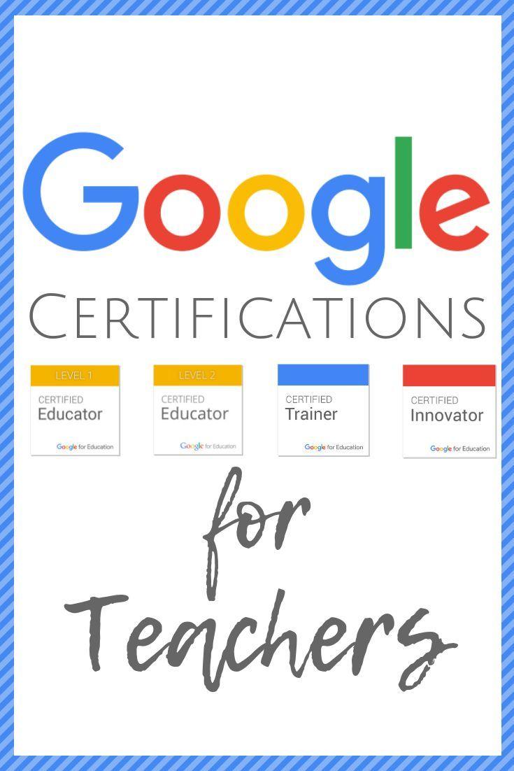 Google Certifications Google Certifications Pinterest Teaching