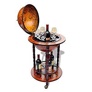 Sensational Anself Globe Bar Wine Container Bottle Glasses Holder Home Interior And Landscaping Eliaenasavecom