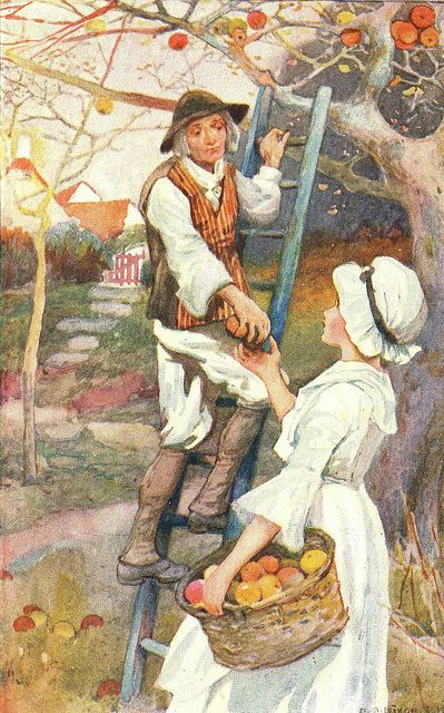 Jacob And Mary Gathering The Apples By A.A. Dixon