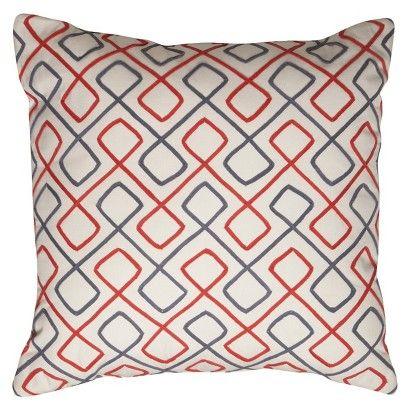 Room Essentials Corded Geo Toss Pillow 18x18 Room Essentials Toss Pillows Retro Pillows