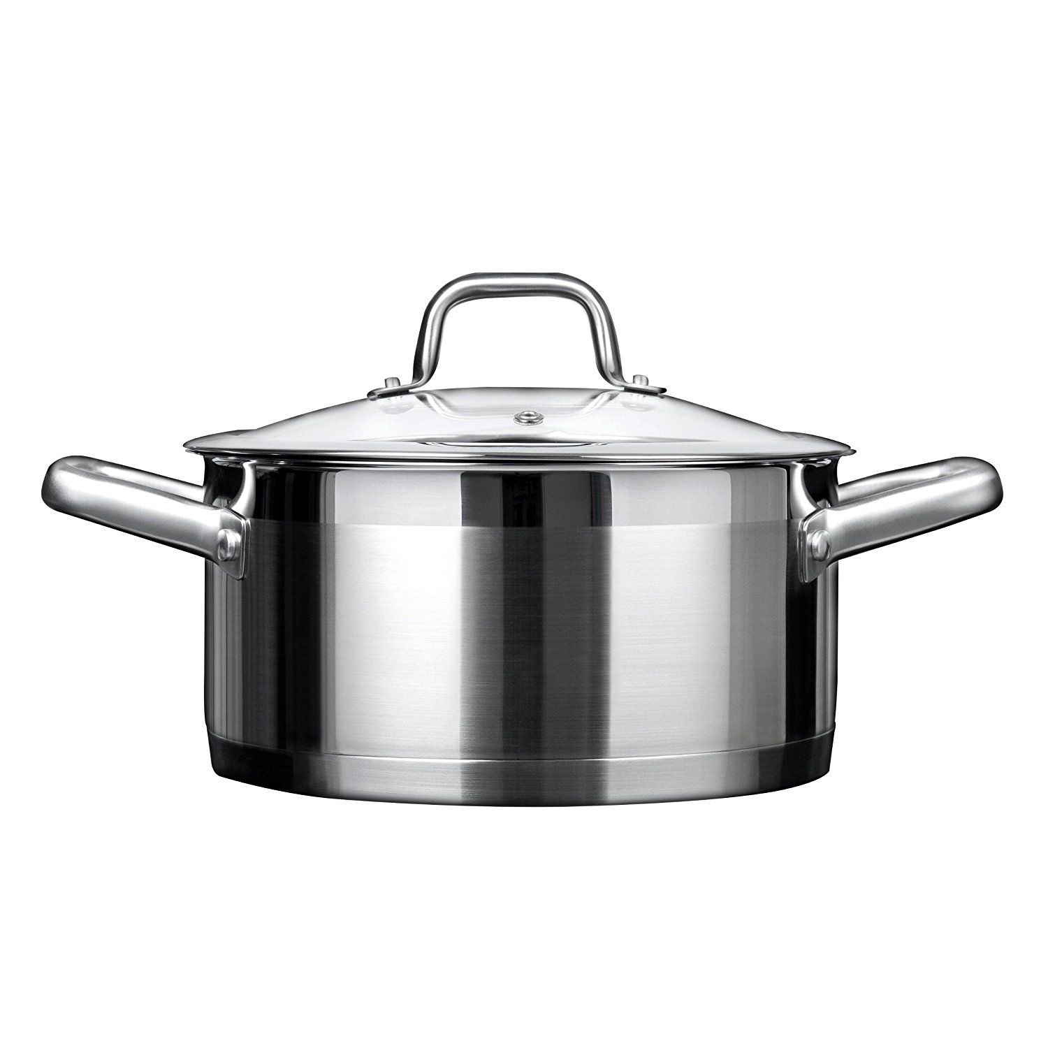 Duxtop Professional Stainless Steel Cookware Induction Ready Impact Bonded Technology 4 2qt Casser Stainless Steel Cookware Induction Cookware Ceramic Cooktop