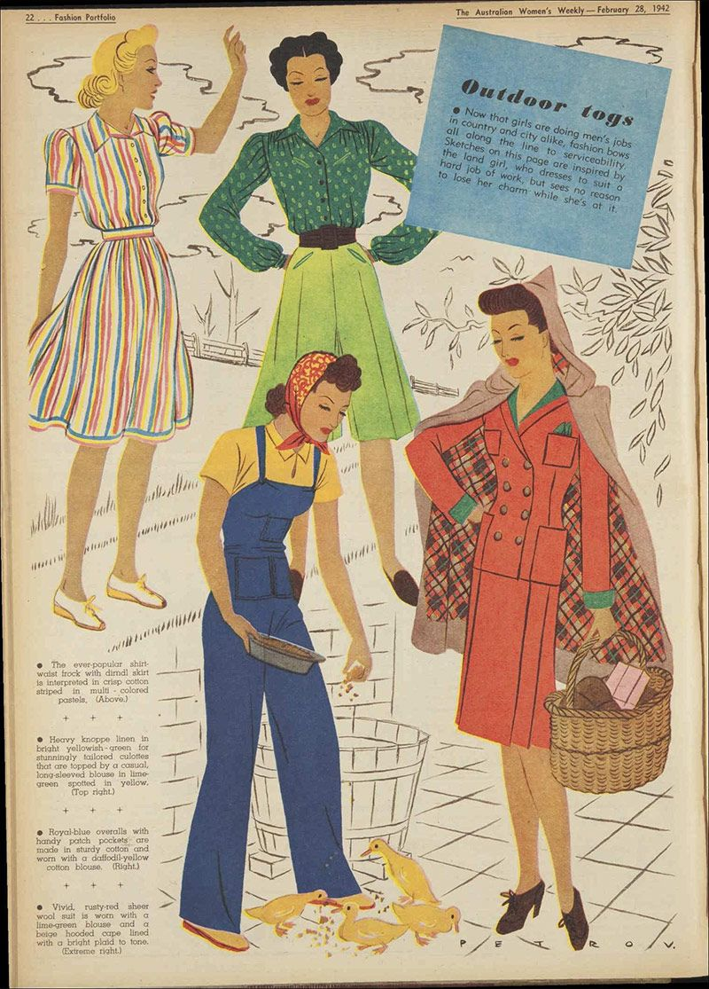 1942 Vintage Daywear From Women S Weekly Australia Forties Fashion Decades Fashion 1940s Outfits