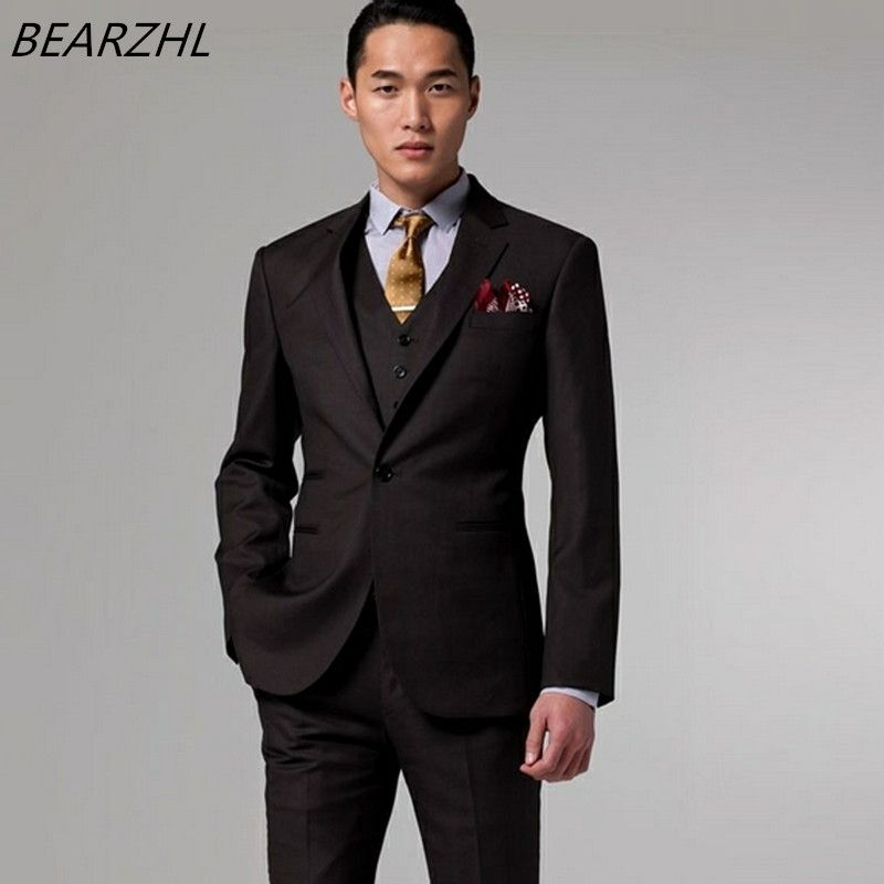 men\'s suits and jackets brown for wedding suit 3 piece suit groom ...