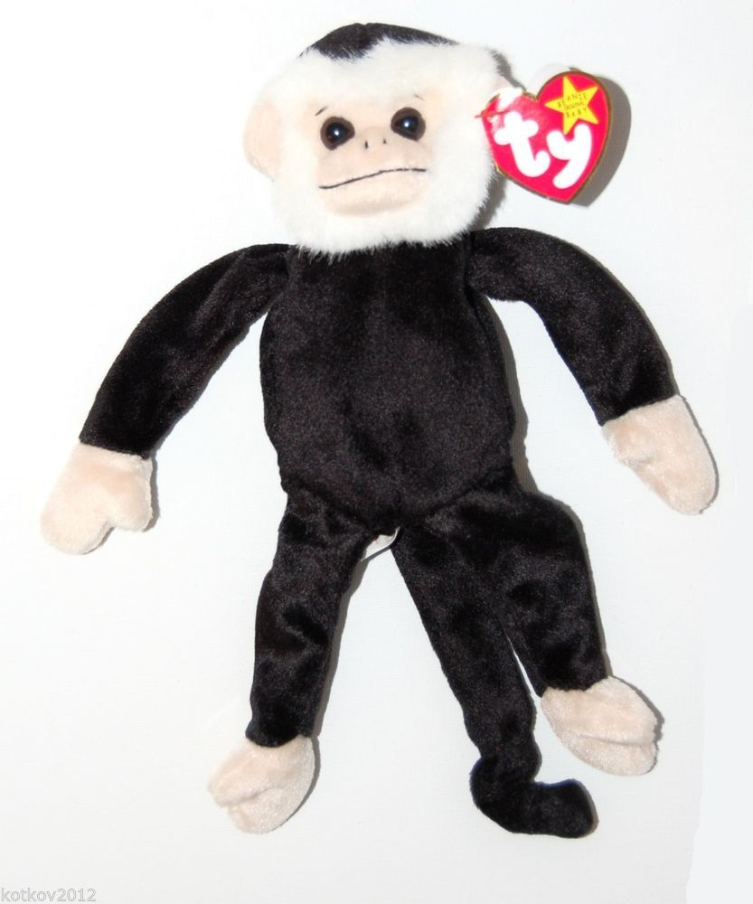 Mooch the Monkey Ty Beanie Baby Collectible Toy 1999 Born August 1 ... 4b36699dcf6