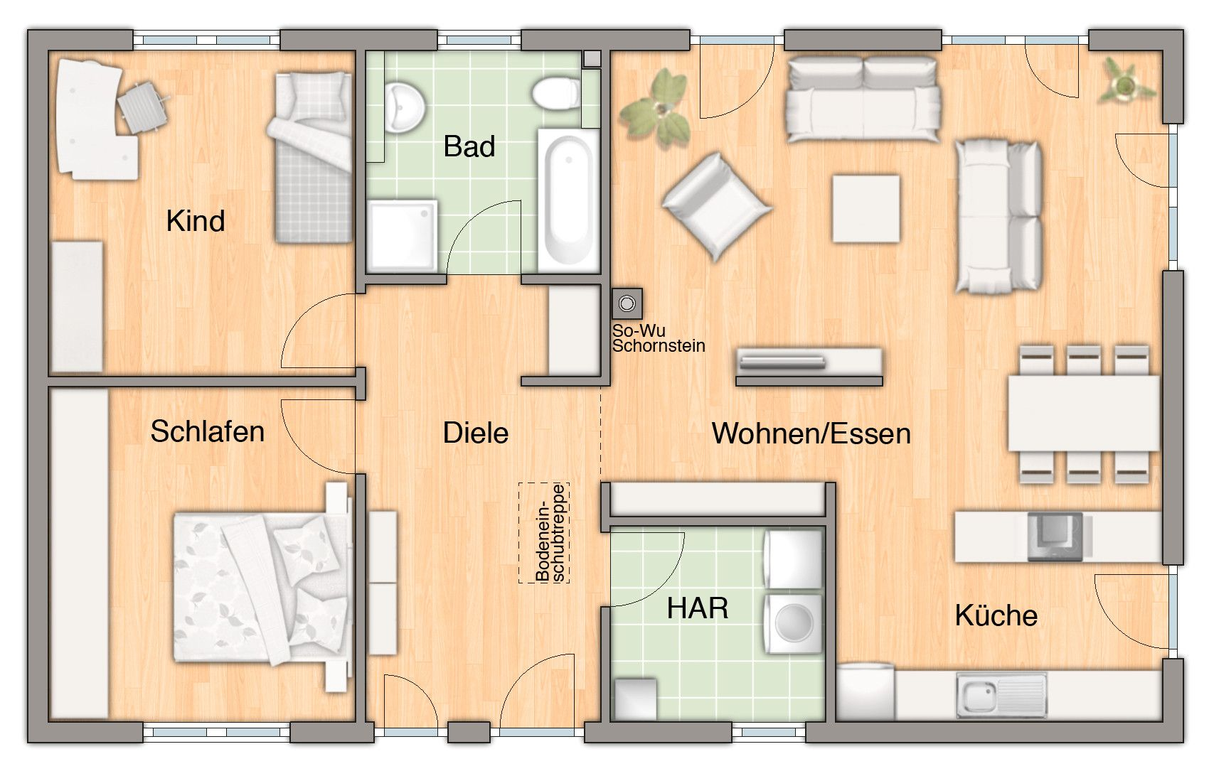 grundriss haus modern 4 zimmer in 2019 house rooms floor layout house plans