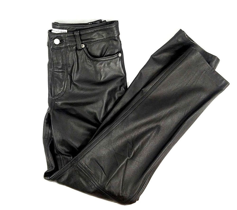 6ee99c5d Tommy Hilfiger Woman's Leather Pants Size 4 Black EUC Original $294.99 # TommyHilfiger #Leather #NightOut