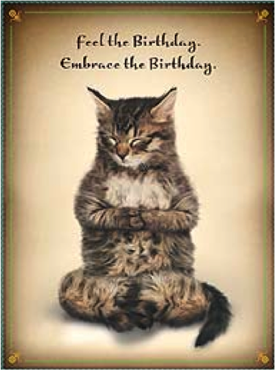 Yoga Cat Birthday Meme