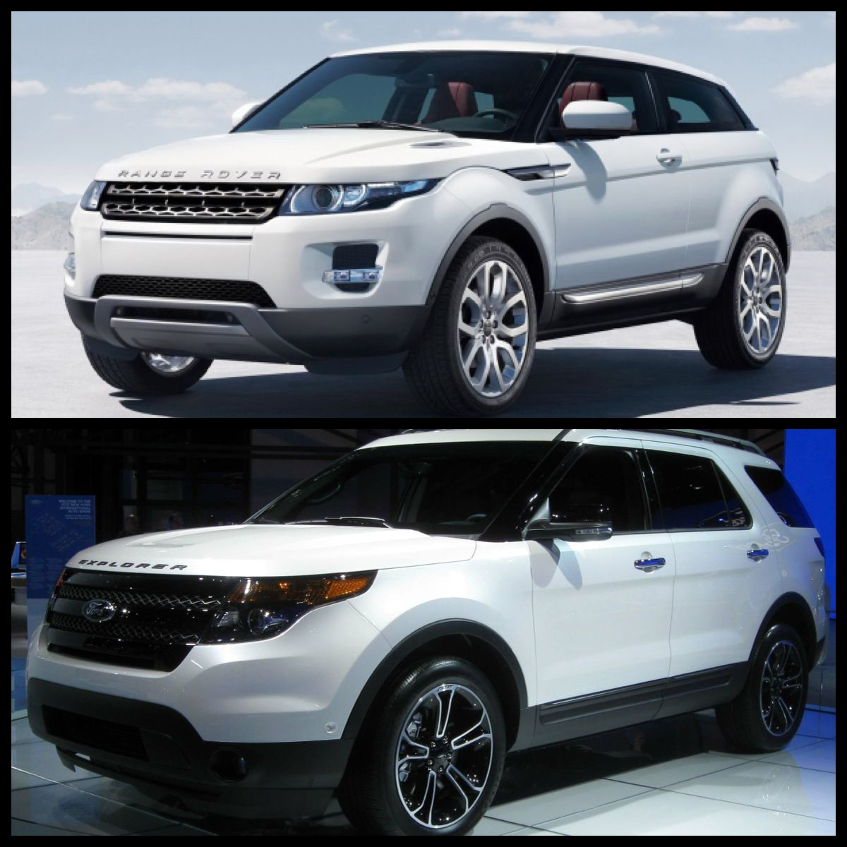 new ford explorer vs new range rover hmmmm cars. Black Bedroom Furniture Sets. Home Design Ideas