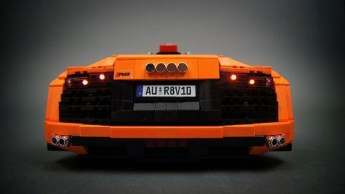 Audi R8 V10 RC: una creación LEGO® de Sariel. : MOCpages.com - #creacion #mocpages #sariel #audir8