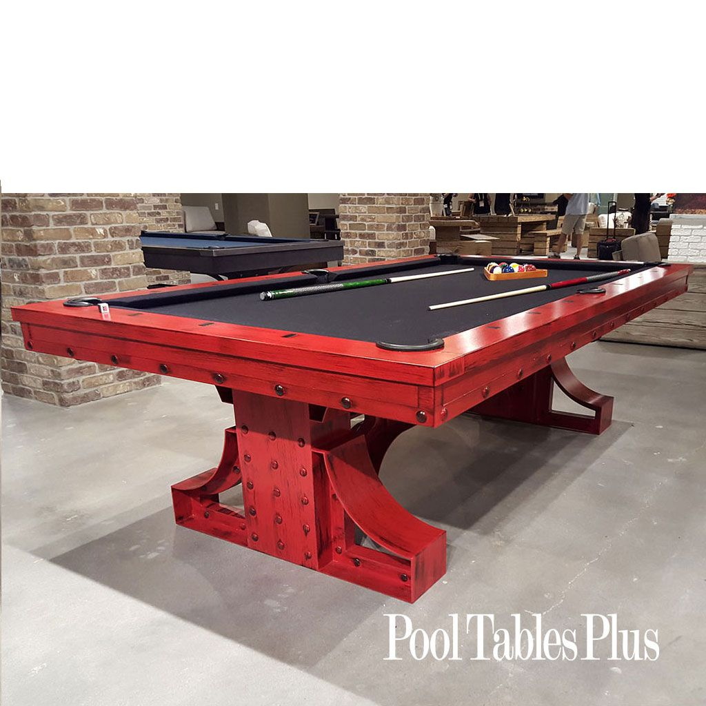 rex industrial pool table | pool table, plank and men cave