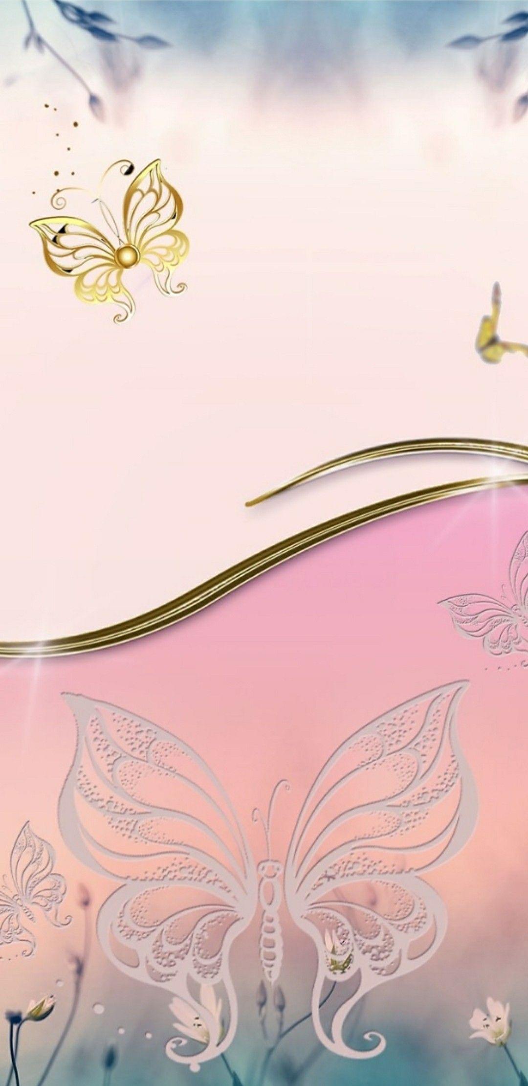 Pink Butterfly Butterfly Wallpaper Cellphone Wallpaper