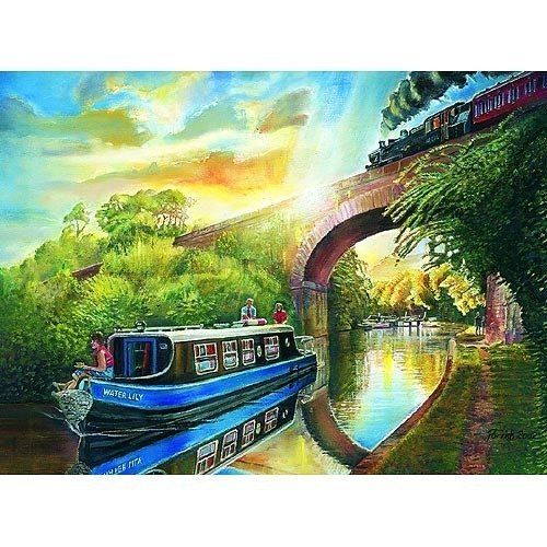 Canal Cruise Jigsaw Puzzle by James Hamilton Grovely  Jigsaw