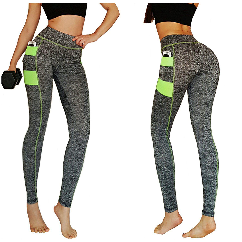 dd466cc883501 oki doki- Gym workout Leggings Running Tights Yoga Pants with side pockets.  Price: $10.99