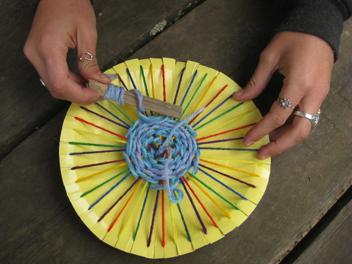 Circular Weaving You will need Scissors Paper Plate Yarn Craft stick - for our weaving project & Circular Weaving   Craft sticks Scissors and Yarns
