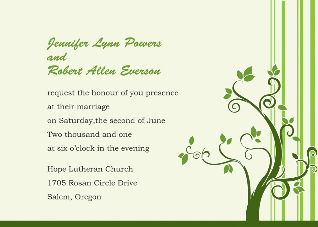 Beautiful Simple Wedding Invitation Wording Samples Pictures Gallery