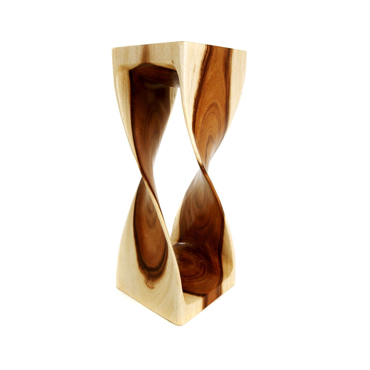 Double Twist Stool - Natural Finish - 30cm x 30cm x 76cm