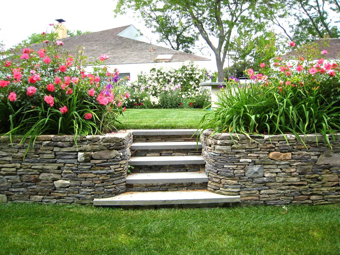 Awesome Landscaping Ideas Front Yard Hill | Sloped ... on Backyard Hill Landscaping Ideas id=87529