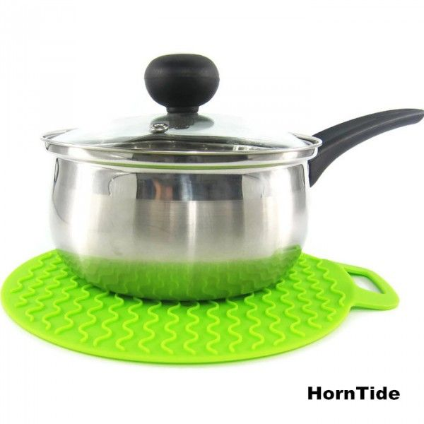 A pot-holder is a piece of textile (often quilted) or silicone used to hold hot kitchen cooking equipment, like pots and pans.  HornTide Release Silicone Potholders withstand extreme temperatures from -40°F to 446°F (-40°C to 230°C), enough to protect your hands, table surface, counter top from the heat.
