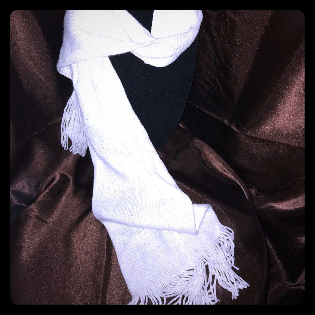 New York & Company White Shimmer Scarf