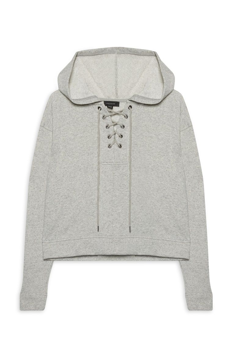 421a64219 Primark - Lace Up Grey Hoodie