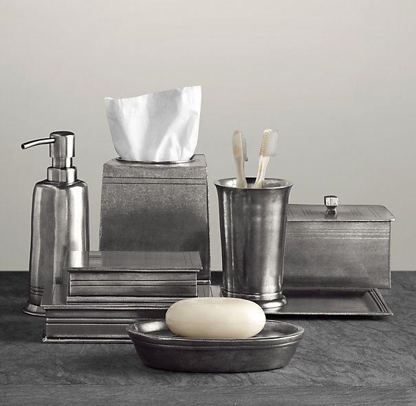 Apothecary Pewter Bath Accessories Restoration Hardware Bathroom