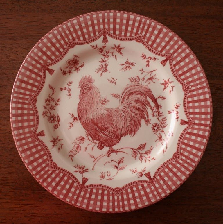 Acorn To Oak Pretty Plates Rooster Plates Pretty Plates Rooster Decor