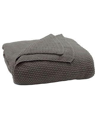 donna karan essentials bedding urban oasis graphite knit throw blankets u0026 throws bed