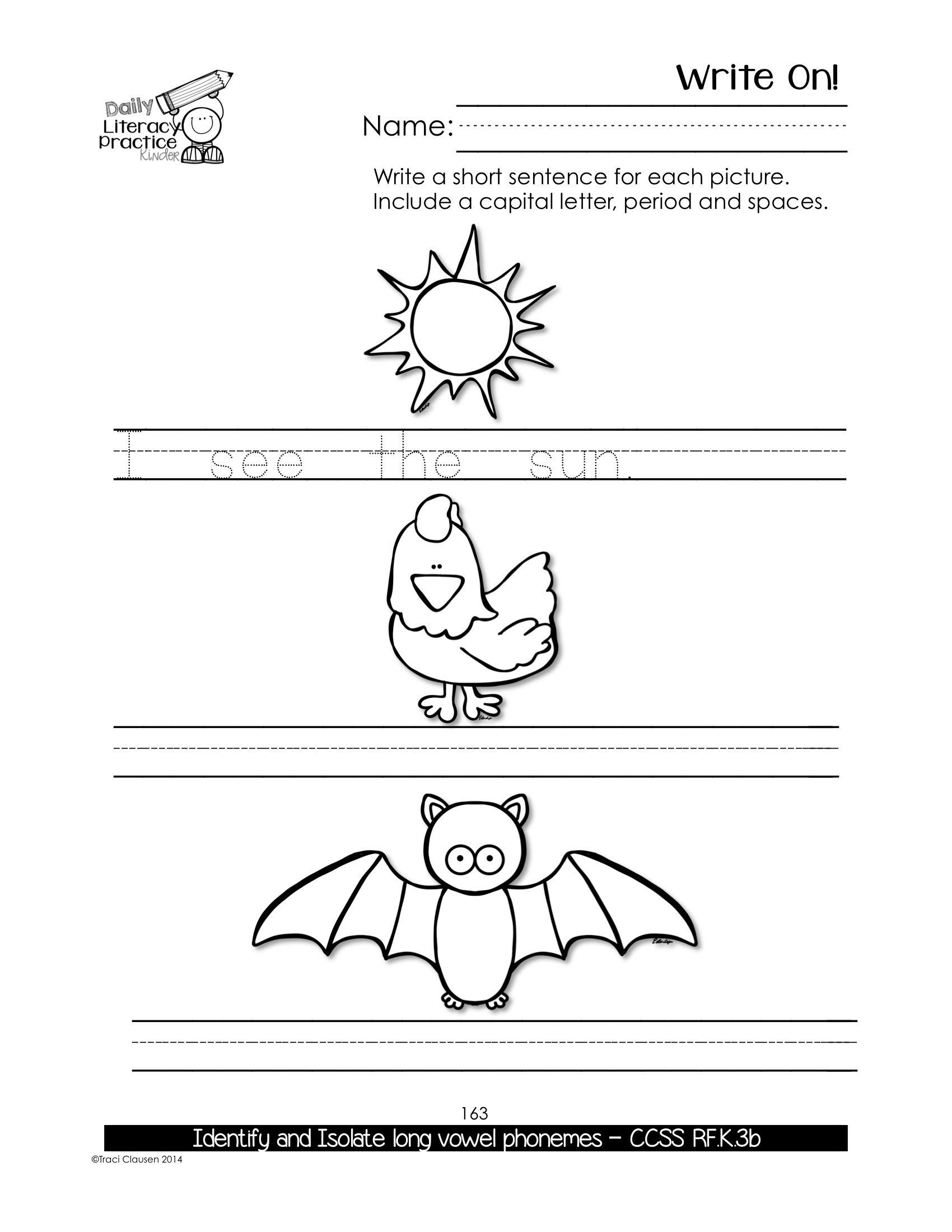 Kindergarten Phonics Amp Sight Words Practice