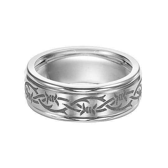 Men's colbat wedding band