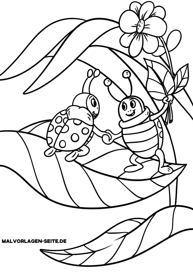 Malvorlage Marienkafer Tiere Insekten Ausmalbilder Ausmalbilder Kinder Marienkafer Ausmalbild