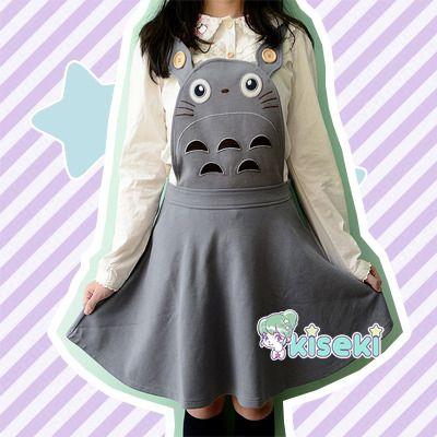 ac79b0e8e44 Totoro overall dress - kawaii