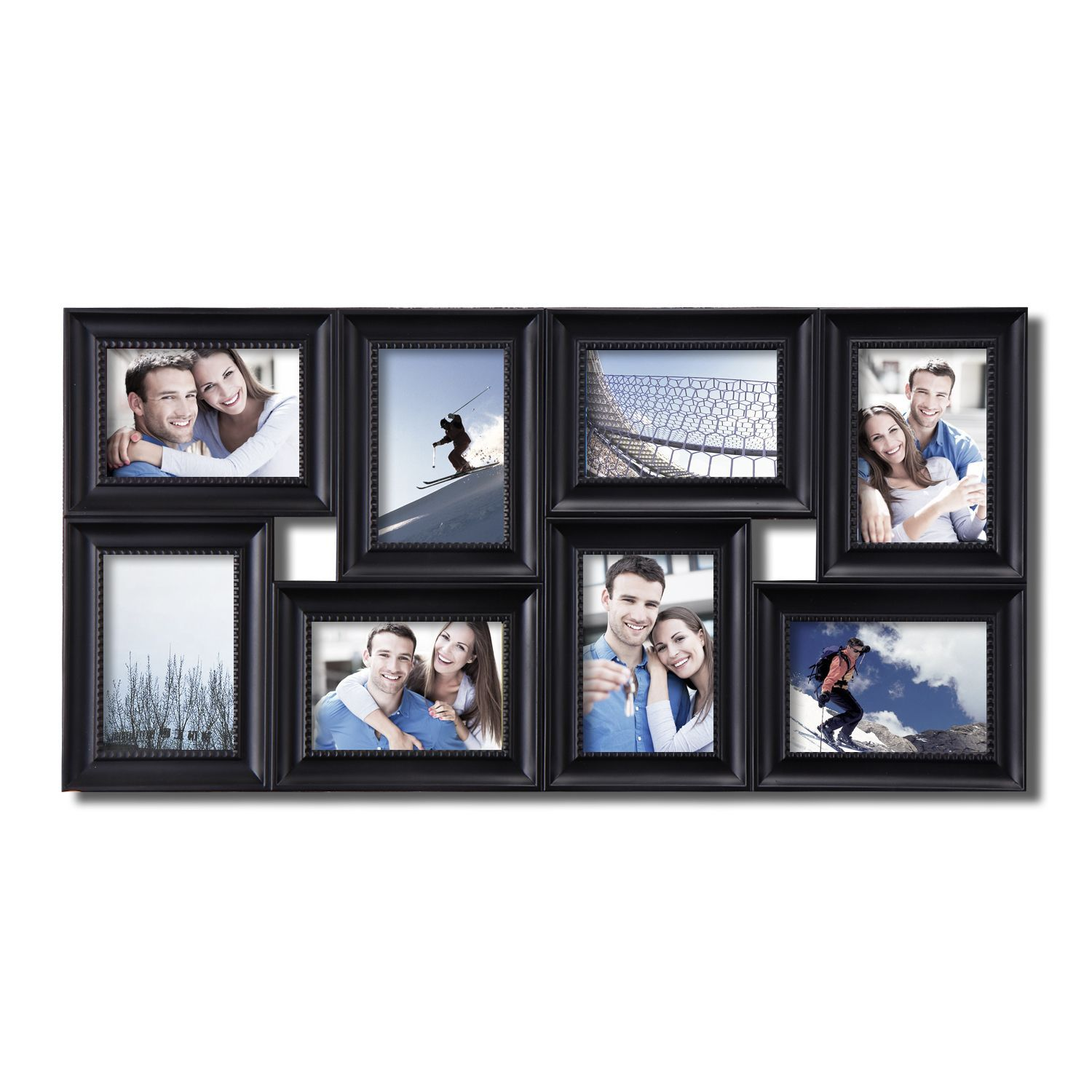 Adeco 8 Opening Black Plastic Photo Collage Frame Adeco 8 Opening