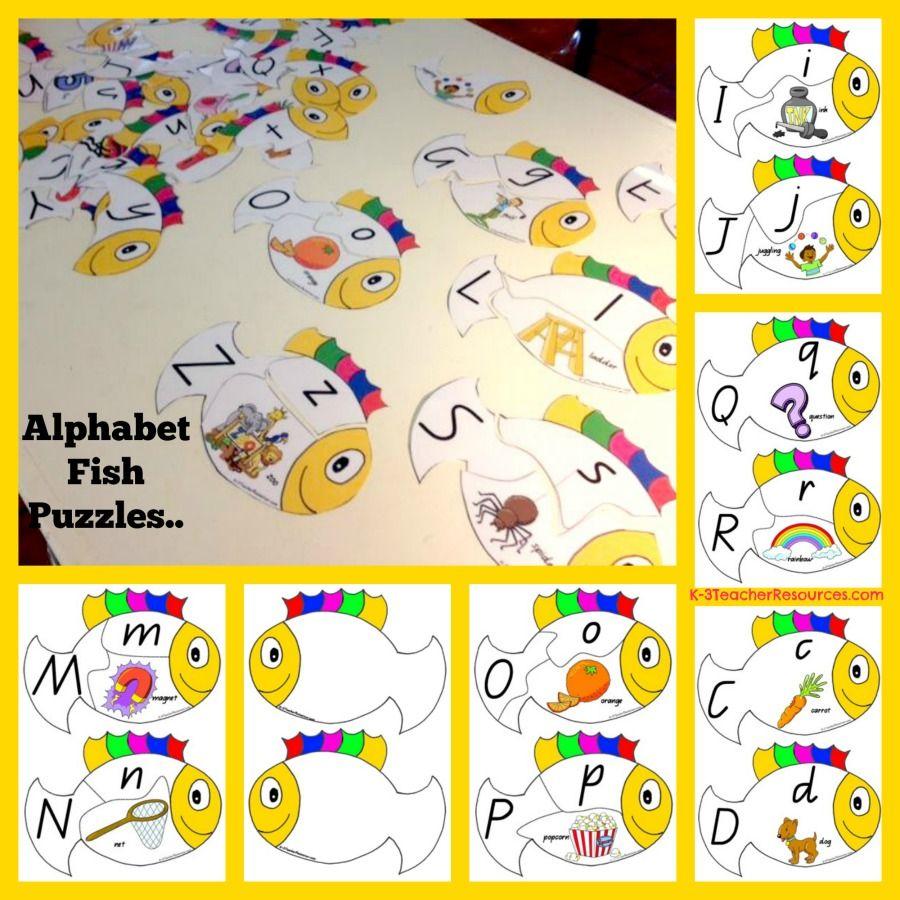 Alphabet Fish Puzzles Or Display Charts Enjoy Http