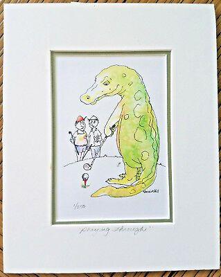 Sponsored - Lynn Ferris PLAYING THROUGH 1/250 edition print of a watercolor GOLF HUMOR #golfhumor