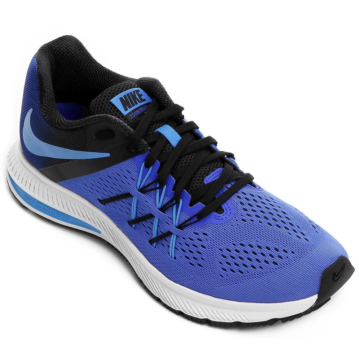 a29ced81c5 Tênis Nike Zoom Winflo 3 Azul e Preto